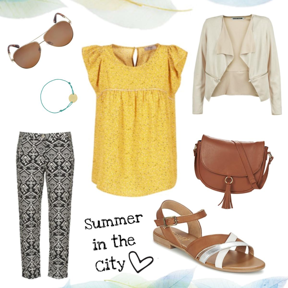 Päivän haaveasu - kesäistä keltaista ja nättiä nahkaa