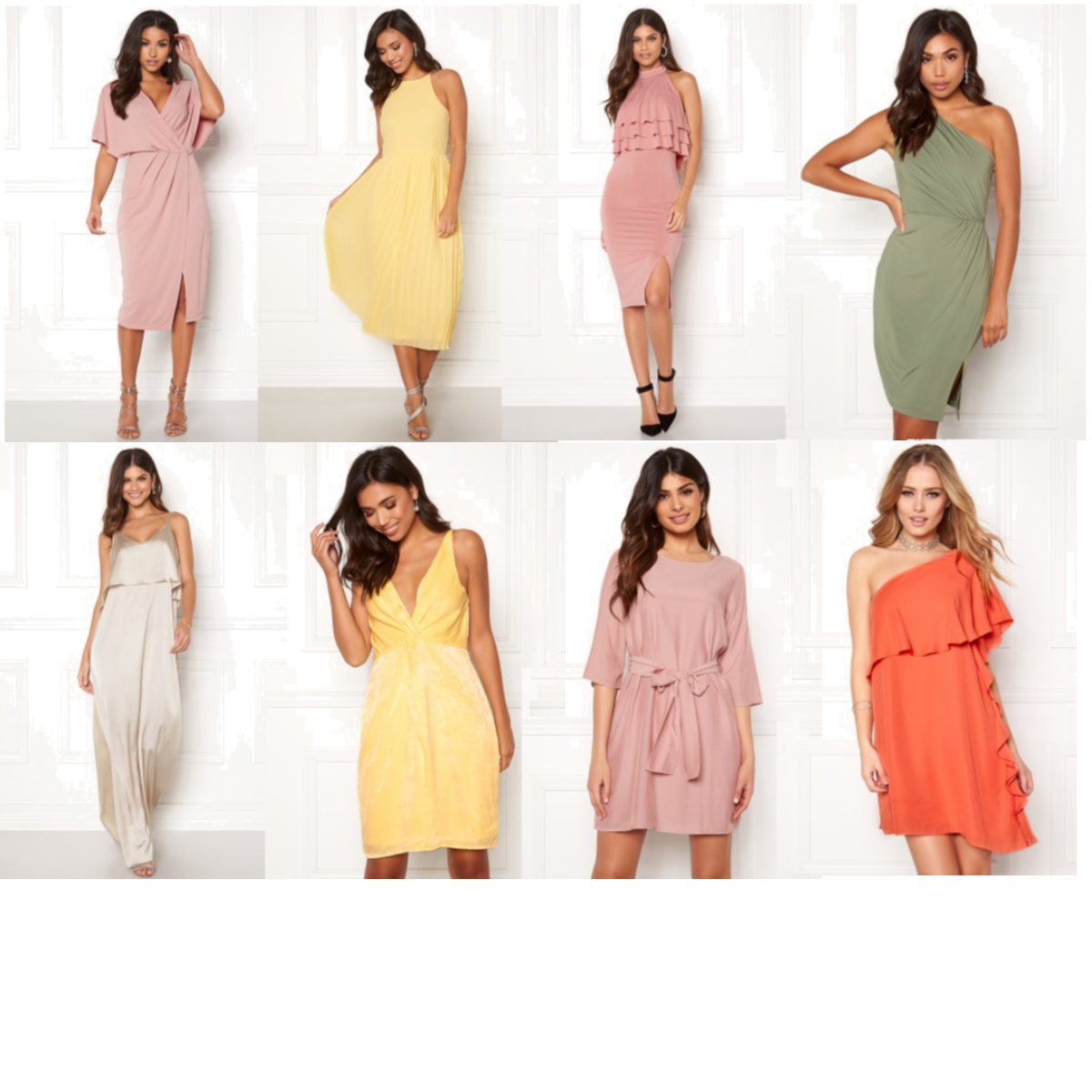 f3c7d8254bc5 Make Way Selena dress Dusty pink 40 | BUBBLEROOM Poppy dress Light yellow  34 | BUBBLEROOM Capri flounce dress Champagne 34 | BUBBLEROOM Venice Love  Dress ...